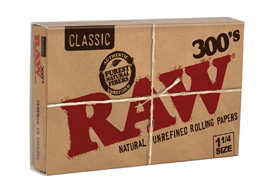 RAW 300´s Blättchen | Natural Unrefined Rolling Papers