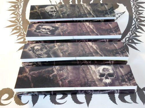 Skull Collection Rolling Paper mit Tips