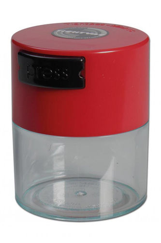 Vacuum Container clear with red top (0,12Liter)