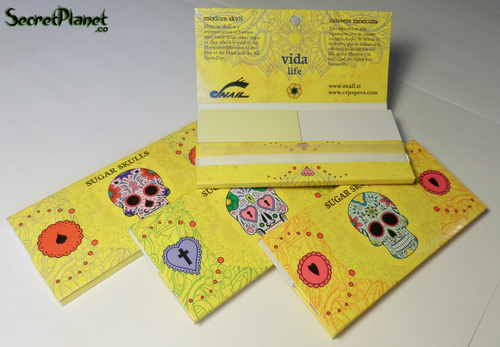 Sugar Skulls KS Slim Papers + Tips Maxipack