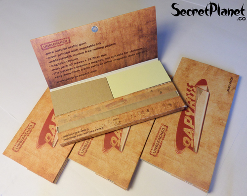 Papyrus Unbleached KS Slim Papers + Tips Maxipack