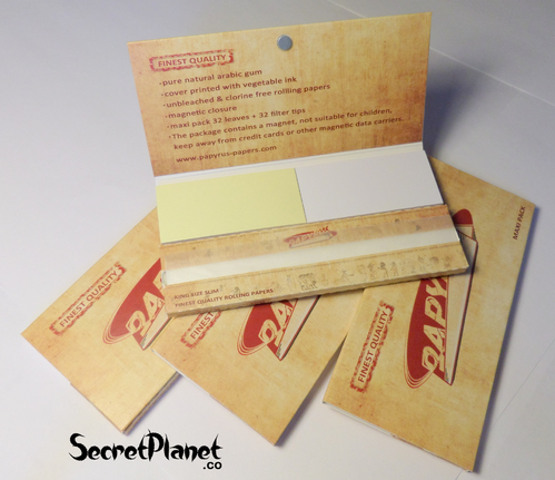 Papyrus Finest Quality KS Slim Papers + Tips Maxipack