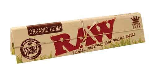 RAW Organic KS Slim Blättchen | Natural Unrefined Hemp Rolling Papers