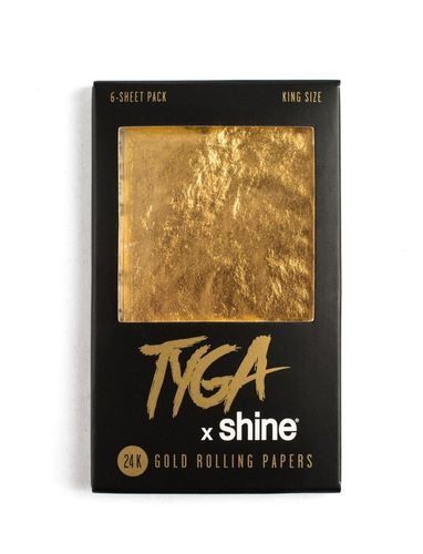 SHINE GOLD 24K King Size Rolling Paper TYGA (6x)