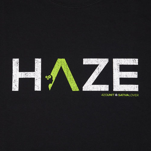420unit T-Shirt HAZE black L + FREE Poptop Container