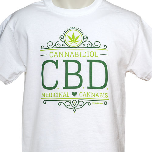 420backyard T-Shirt CBD white L + FREE Poptop Container