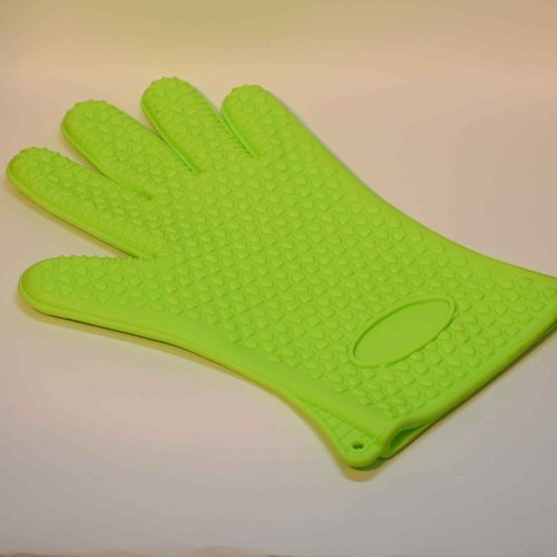 Silikone glove green