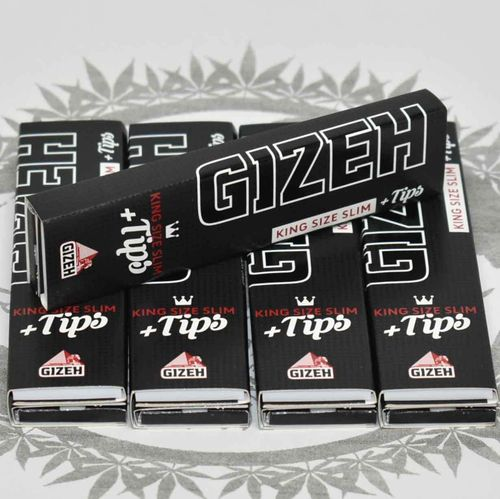 Gizeh Black KS Slim + Tips mit Magnetverschluss (5er Set)