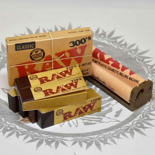 SET RAW Drehmaschine + Rolling Papers + Filtertips