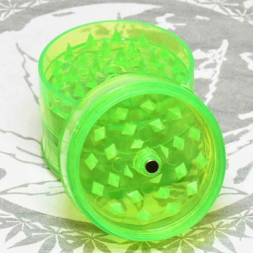 Acryl Grinder Green with Screen 5-parts D58mm H56cm