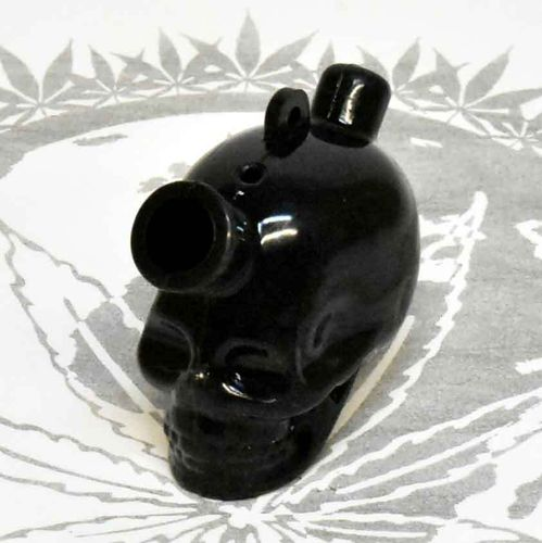 Silikon Joint Bubbler Skull Black