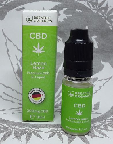 'Breathe Organics' CBD E-Liquid Lemon Haze 300mg