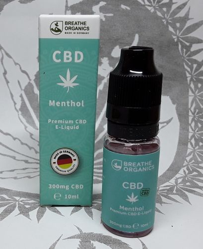 'Breathe Organics' active CBD E-Liquid Menthol 300mg