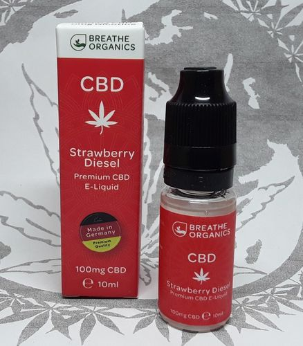 'Breathe Organics' CBD E-Liquid Strawberry Diesel 100mg