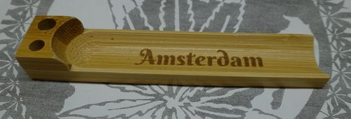 Bamboo Pocket Rolling Tray - Amsterdam