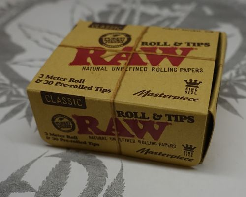 Raw Classic Masterpiece Rolls & Tips - 3 Meter