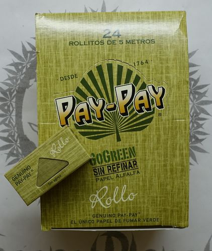PayPay GoGreen Alfalfa Rolls Grüne Rolling Papers